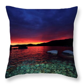 Sundown In Lake Tahoe Throw Pillow