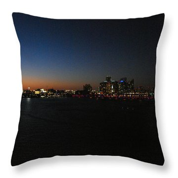 Sundown In Miami Throw Pillow by Gary Wonning