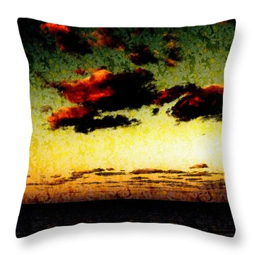 Sundown In Monterey Throw Pillow