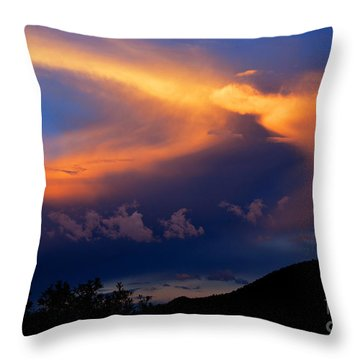 Sundown In The Canyon Throw Pillow by Susanne Still
