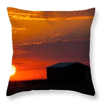 Sundown Throw Pillow by Mark Alder