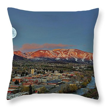 Sundown Moon Rise Throw Pillow by Matt Helm