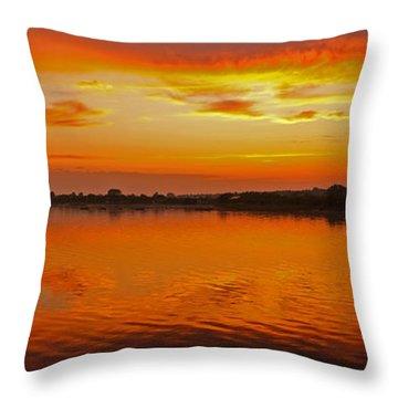 Throw Pillow featuring the photograph Sundown Near Jastarnia At Hel Penisula In Poland by Julis Simo