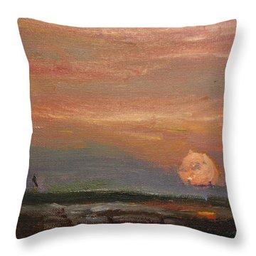 Sundown On Cape Throw Pillow
