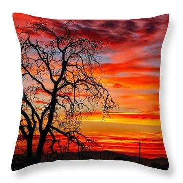 Sundown On Jeffcoat Throw Pillow