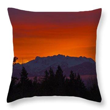 Sundown Throw Pillow by Randy Hall