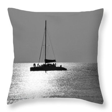 Sundown Sail Throw Pillow by Amar Sheow