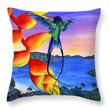 Sundowner At Cinnamon Throw Pillow by Carolyn Steele