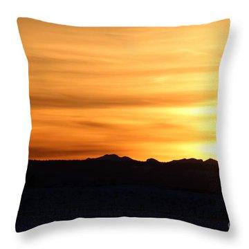 Sundre Sunset Throw Pillow