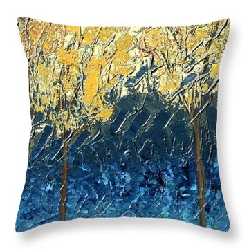 Sundrenched Trees Throw Pillow
