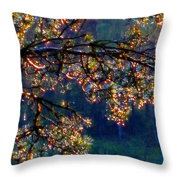 Throw Pillow featuring the photograph Sundrops by Leena Pekkalainen