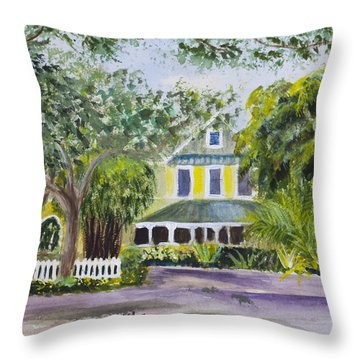 Sundy House In Delray Beach Throw Pillow by Donna Walsh