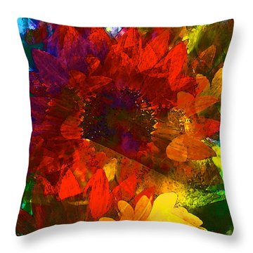Sunflower 11 Throw Pillow