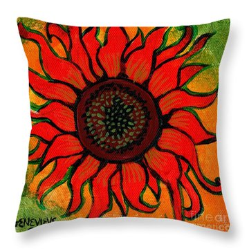 Helios 2 Throw Pillows Pixels
