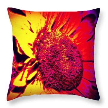 Sunflower 2 Throw Pillow by Jason Michael Roust