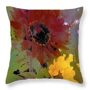 Sunflower 33 Throw Pillow