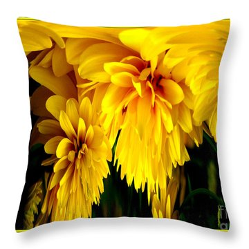Sunflower Abstract 1 Throw Pillow by Rose Santuci-Sofranko