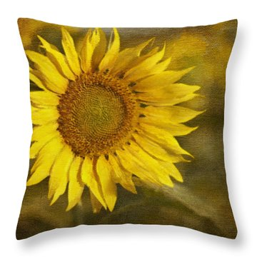 Sunflower And Sunshine  Throw Pillow by Ivelina G