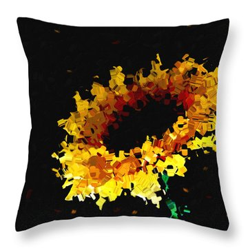 Sunflower Throw Pillow by Ann Powell