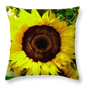 Throw Pillow featuring the photograph Sunflower Arrangement by Merton Allen