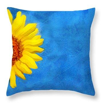 Sunflower Art Throw Pillow by Ann Powell