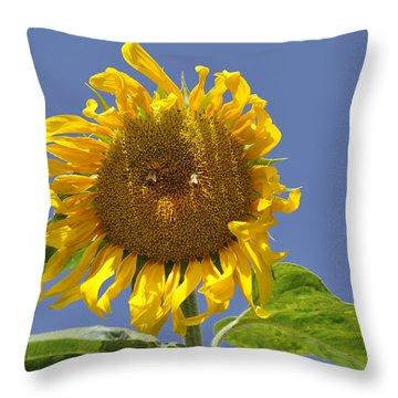 Sunflower At Latrun Throw Pillow