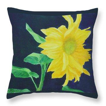 Sunflower Ballet Original Throw Pillow