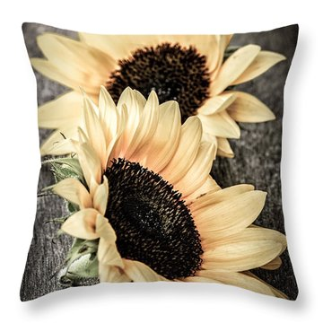 Sunflower Blossoms Throw Pillow by Elena Elisseeva