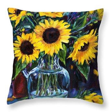 Sunflower Bouquet  Throw Pillow by Jennifer Beaudet