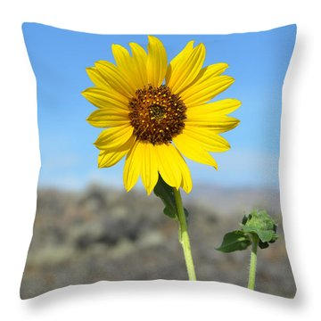 Sunflower By Craters Of The Moon Throw Pillow by Debra Thompson
