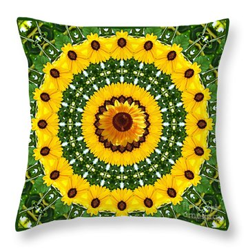 Sunflower Centerpiece Throw Pillow