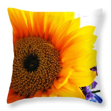 Sunflower  Throw Pillow by Colleen Kammerer