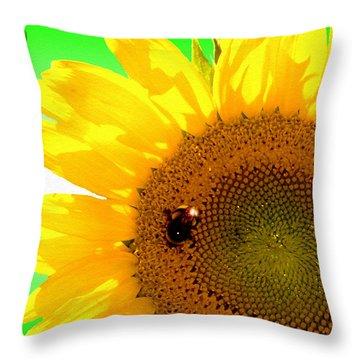 Throw Pillow featuring the digital art Sunflower by Daniel Janda