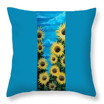 Sunflower Fun Throw Pillow