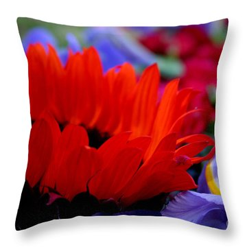 Sunflower Iris Love Throw Pillow