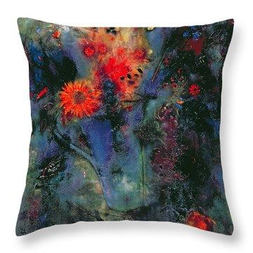Sunflower Throw Pillow by Jane Deakin