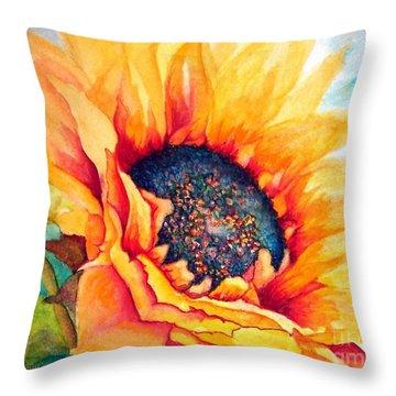 Sunflower Joy Throw Pillow by Janine Riley