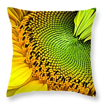 Kaleidescope Sunflower Throw Pillow