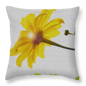Sunflower Throw Pillow by Kandy Hurley