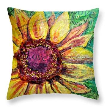 Sunflower Love  Throw Pillow