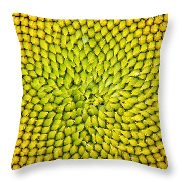 Sunflower Middle  Throw Pillow