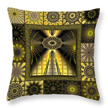 Sunflower Moon Redux Throw Pillow