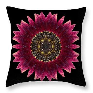 Sunflower Moulin Rouge I Flower Mandala Throw Pillow