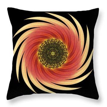 Sunflower Moulin Rouge Vii Flower Mandala Throw Pillow by David J Bookbinder