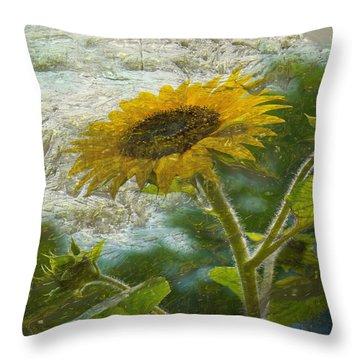 Sunflower Mountain Throw Pillow
