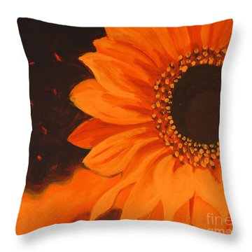 Sunflower Mystique Throw Pillow
