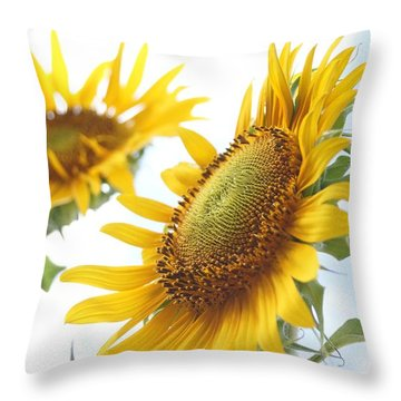 Sunflower Perspective Throw Pillow by Kerri Mortenson