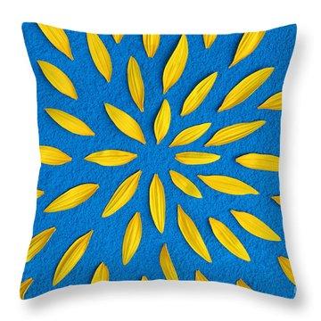 Sunflower Petals Pattern Throw Pillow