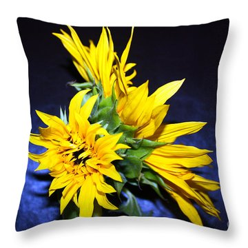 Sunflower Portrait Throw Pillow