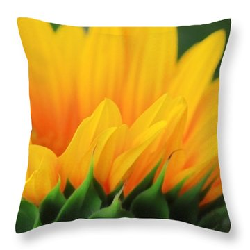 Sunflower Profile Throw Pillow